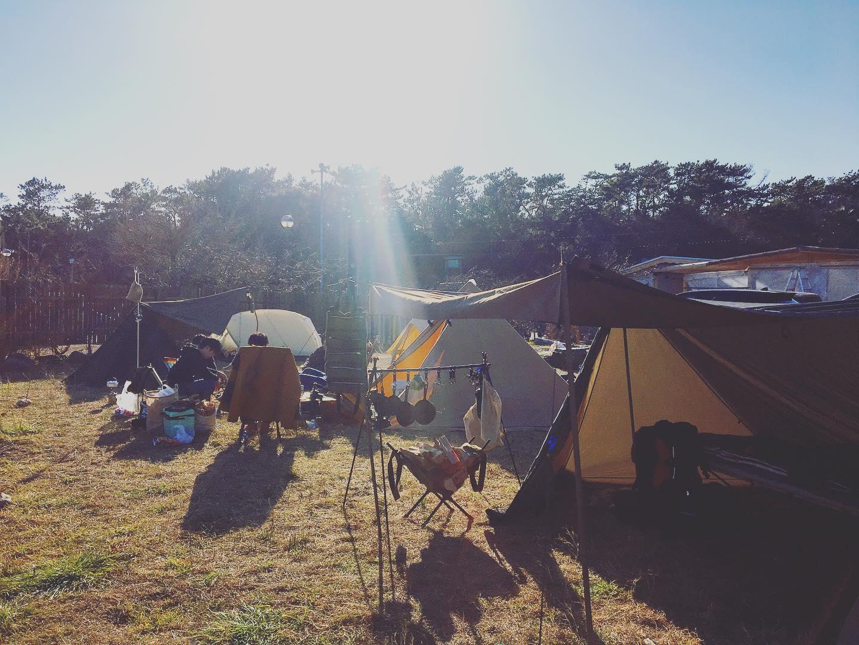 みなさまそれぞれの個性溢れるテントでCamp in勉強になります#キャンプ #浜岡砂丘キャンプ場 #浜岡砂丘なごみ #浜岡砂丘
